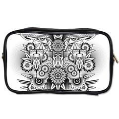 Forest Patrol Tribal Abstract Toiletries Bags