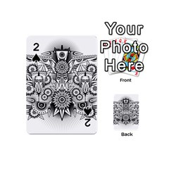 Forest Patrol Tribal Abstract Playing Cards 54 (mini)