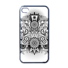 Forest Patrol Tribal Abstract Apple Iphone 4 Case (black)