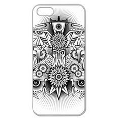 Forest Patrol Tribal Abstract Apple Seamless Iphone 5 Case (clear)