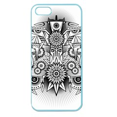 Forest Patrol Tribal Abstract Apple Seamless Iphone 5 Case (color)