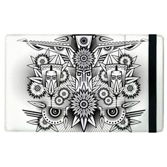 Forest Patrol Tribal Abstract Apple Ipad 2 Flip Case