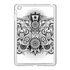 Forest Patrol Tribal Abstract Apple Ipad Mini Case (white)