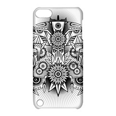 Forest Patrol Tribal Abstract Apple Ipod Touch 5 Hardshell Case With Stand