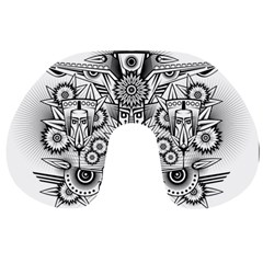 Forest Patrol Tribal Abstract Travel Neck Pillows