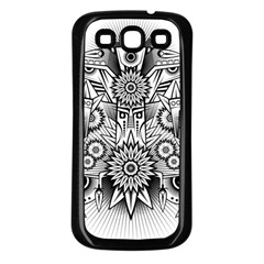 Forest Patrol Tribal Abstract Samsung Galaxy S3 Back Case (black)