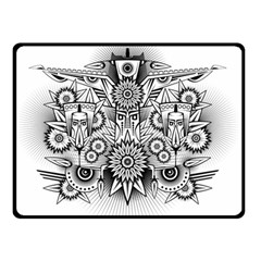 Forest Patrol Tribal Abstract Double Sided Fleece Blanket (small)