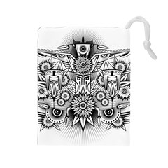 Forest Patrol Tribal Abstract Drawstring Pouches (large)