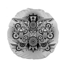 Forest Patrol Tribal Abstract Standard 15  Premium Flano Round Cushions