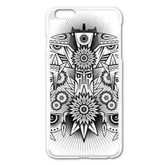 Forest Patrol Tribal Abstract Apple Iphone 6 Plus/6s Plus Enamel White Case