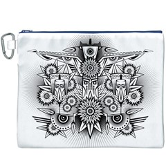 Forest Patrol Tribal Abstract Canvas Cosmetic Bag (xxxl)