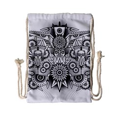 Forest Patrol Tribal Abstract Drawstring Bag (small)