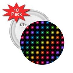 Background Colorful Geometric 2 25  Buttons (10 Pack)