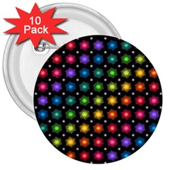 Background Colorful Geometric 3  Buttons (10 Pack)