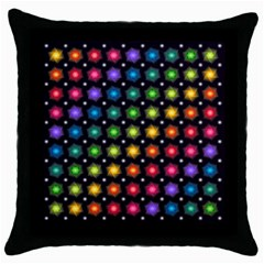 Background Colorful Geometric Throw Pillow Case (black)