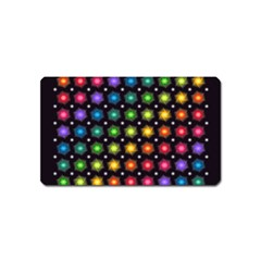 Background Colorful Geometric Magnet (name Card)