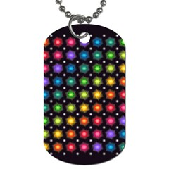 Background Colorful Geometric Dog Tag (one Side)
