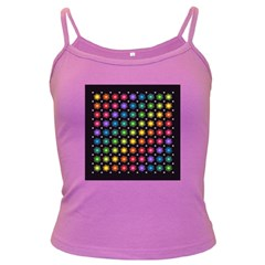 Background Colorful Geometric Dark Spaghetti Tank