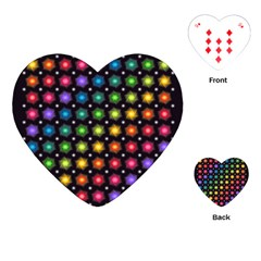 Background Colorful Geometric Playing Cards (heart)
