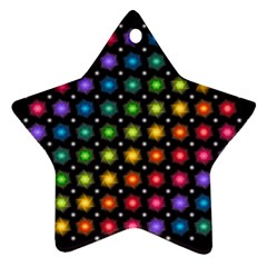 Background Colorful Geometric Star Ornament (two Sides)
