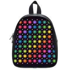 Background Colorful Geometric School Bag (small)