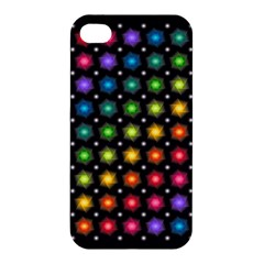 Background Colorful Geometric Apple Iphone 4/4s Hardshell Case