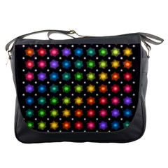 Background Colorful Geometric Messenger Bags