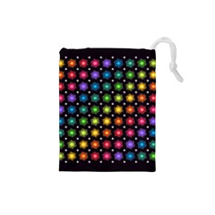 Background Colorful Geometric Drawstring Pouches (small)