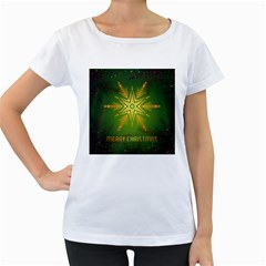 Christmas Snowflake Card E Card Women s Loose Fit T Shirt (white)