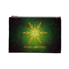 Christmas Snowflake Card E Card Cosmetic Bag (large)