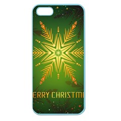 Christmas Snowflake Card E Card Apple Seamless Iphone 5 Case (color)