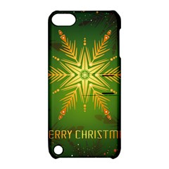 Christmas Snowflake Card E Card Apple Ipod Touch 5 Hardshell Case With Stand