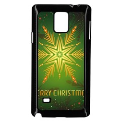 Christmas Snowflake Card E Card Samsung Galaxy Note 4 Case (black)