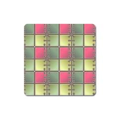 Seamless Pattern Seamless Design Square Magnet