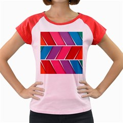Abstract Background Colorful Women s Cap Sleeve T Shirt