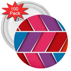Abstract Background Colorful 3  Buttons (100 Pack)