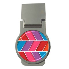 Abstract Background Colorful Money Clips (round)