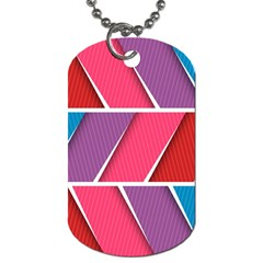 Abstract Background Colorful Dog Tag (one Side)