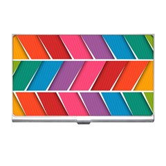 Abstract Background Colorful Business Card Holders