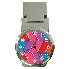Abstract Background Colorful Money Clip Watches
