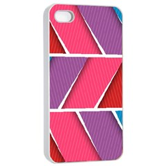 Abstract Background Colorful Apple Iphone 4/4s Seamless Case (white)