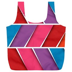 Abstract Background Colorful Full Print Recycle Bags (l)