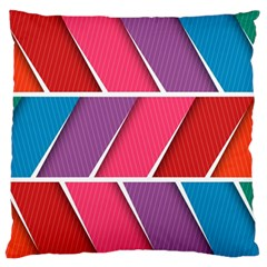 Abstract Background Colorful Large Flano Cushion Case (one Side)