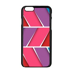Abstract Background Colorful Apple Iphone 6/6s Black Enamel Case