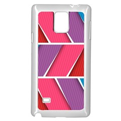 Abstract Background Colorful Samsung Galaxy Note 4 Case (white)