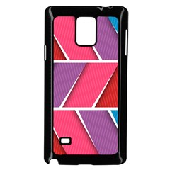 Abstract Background Colorful Samsung Galaxy Note 4 Case (black)
