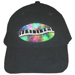 Piano Keys Music Colorful 3d Black Cap
