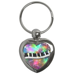 Piano Keys Music Colorful 3d Key Chains (heart)