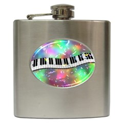 Piano Keys Music Colorful 3d Hip Flask (6 Oz)