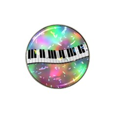 Piano Keys Music Colorful 3d Hat Clip Ball Marker